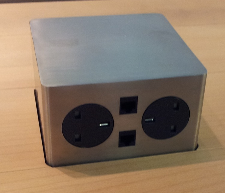 S-Box's pop-up sockets