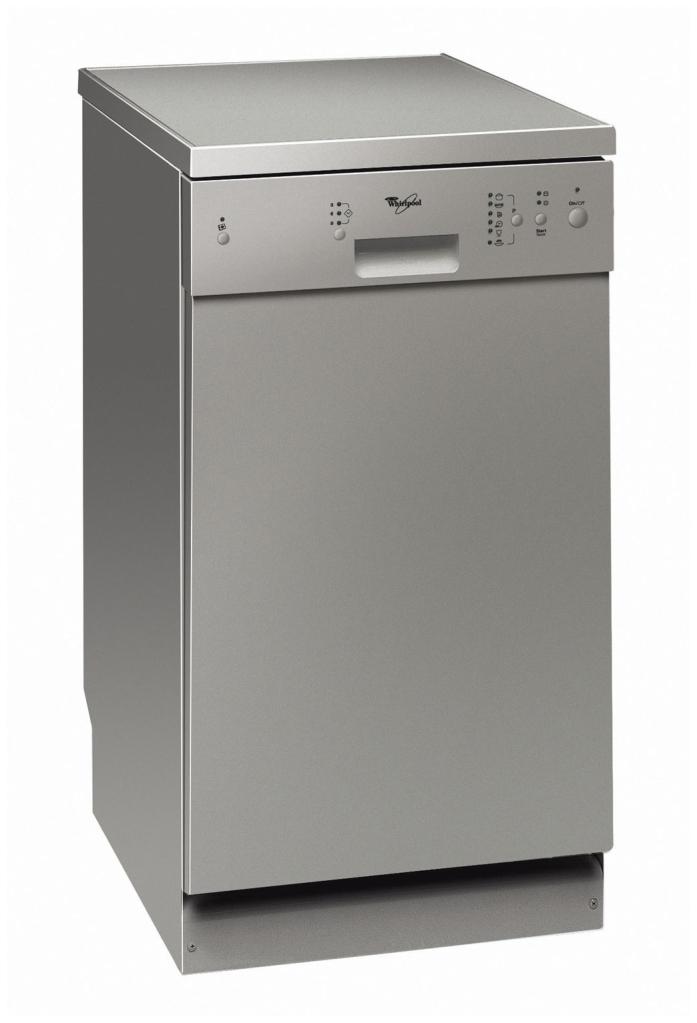 Whirlpool's Slimline Silver Dishwasher ADP 451 IX