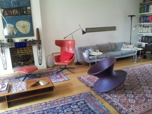 Sebastian's beautiful eclectic living room