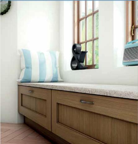 Magnet's Pembury Oak units used as a window seat