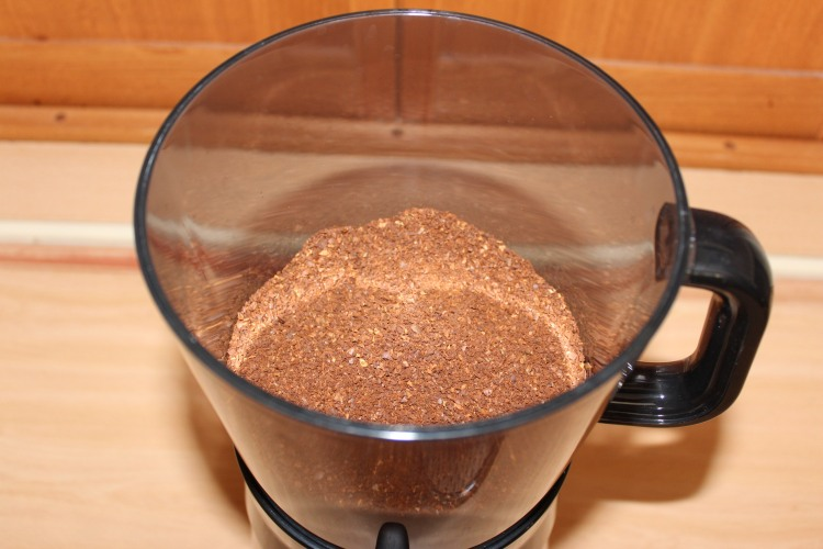 Dry coffee grounds