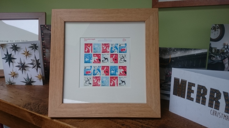 Framed Tord stamps