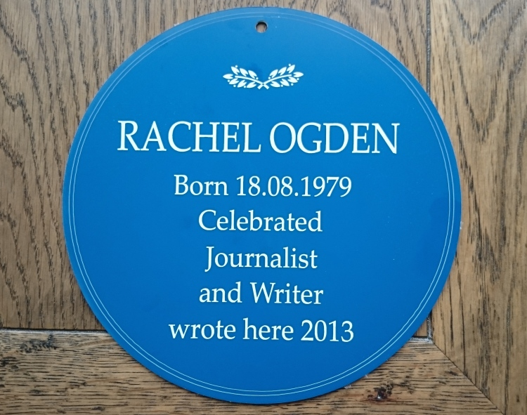 Rachel's plaque