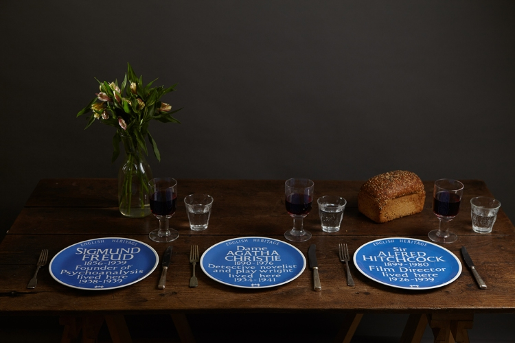Blue Plaques plates