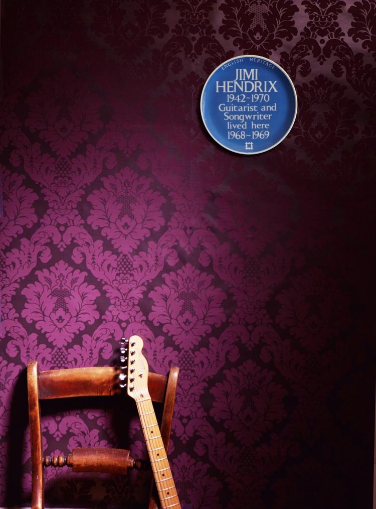 Jimi Hendrix Blue Plaque plate