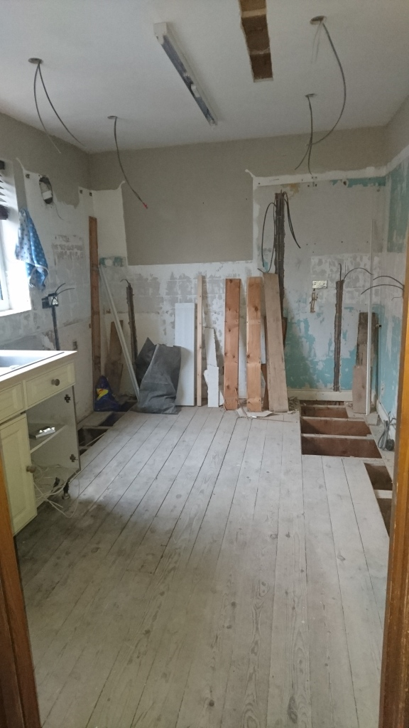 Stripped out kitchen