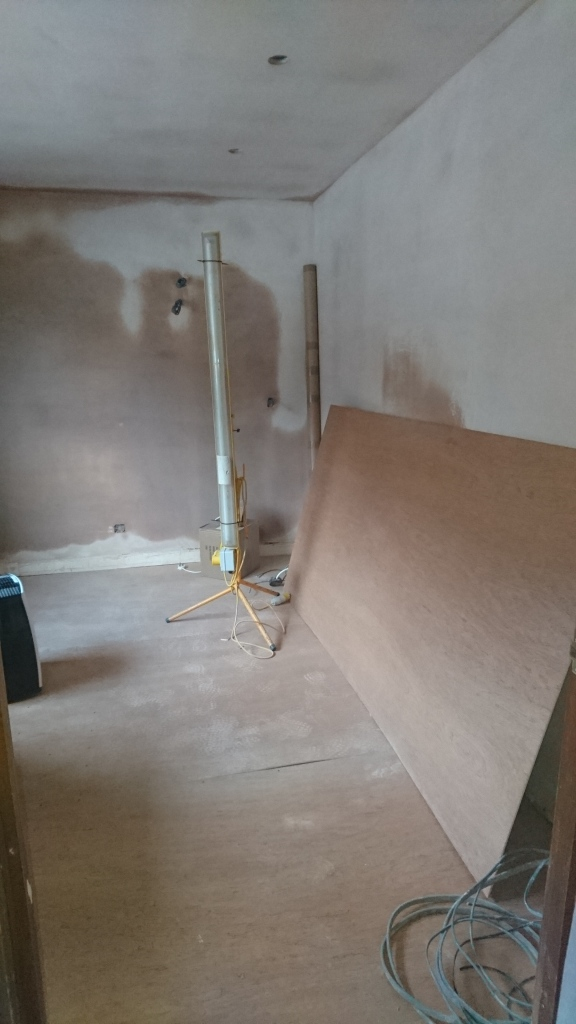 drying plaster walls